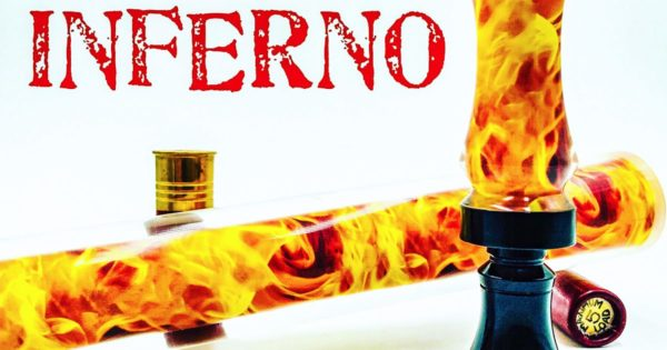 Inferno fire custom image game call pattern for duck & game call blanks