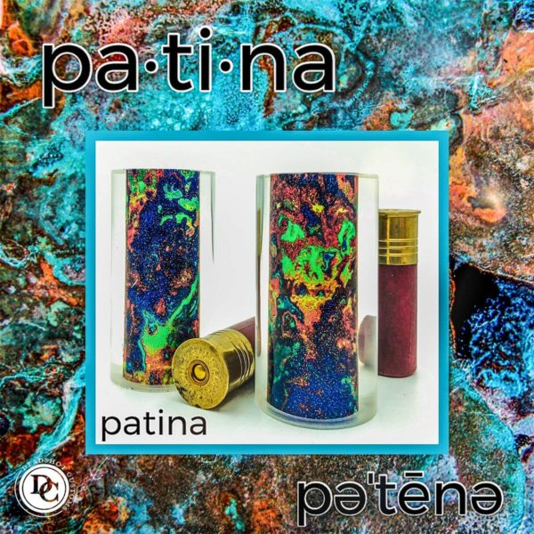 Patina design game call blank for duck calls and goose calls