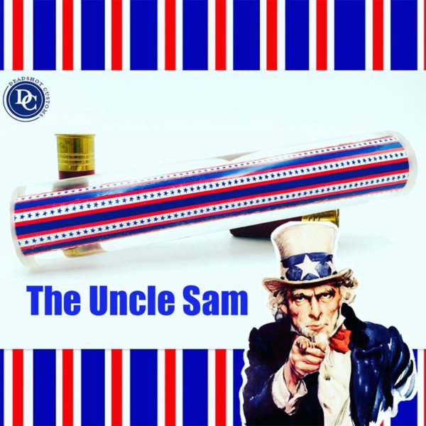 The Uncle Sam design game call blank for duck calls and goose calls
