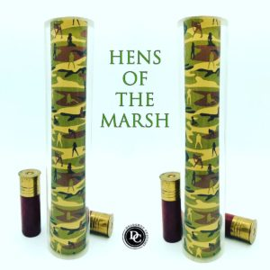 Hens of the Marsh design game call blank for duck calls and goose calls